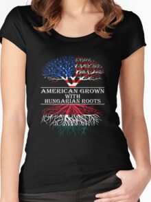 American Grown With Hungarian Roots Women's Fitted Scoop T-Shirt