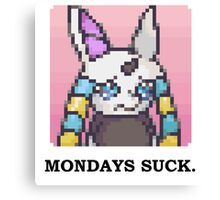 Mondays Suck Canvas Print