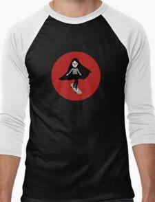 A girl walks home alone at night. Men's Baseball ¾ T-Shirt