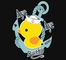 Aye Aye Ducky Womens Fitted T-Shirt