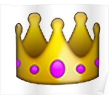 Crown Emoji Poster