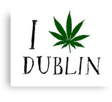 Dublin Ireland Weed Canvas Print