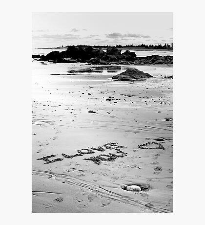 Love On The Beach Photographic Print