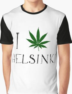 Finland Helsinki Weed Graphic T-Shirt