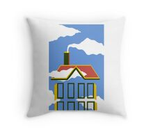 House of Magritte Throw Pillow