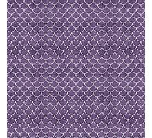 Purple Mermaid Scales Photographic Print