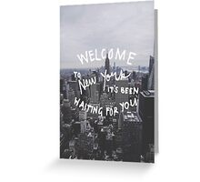 Taylor Swift Welcome To New York Greeting Card