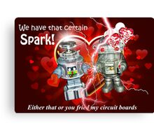 Valentine for Robots Canvas Print