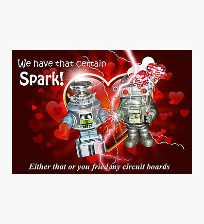 Valentine for Robots Photographic Print