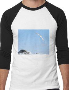 The flight of the snowy owl Men's Baseball ¾ T-Shirt