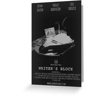 Writer's Block Poster Greeting Card