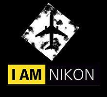 I AM NIKON Airplane Parody Logo by Frexk