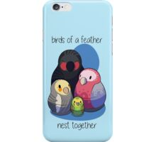 Aussie Birds Nest Together iPhone Case/Skin