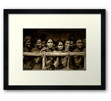 Hindu Pilgrims on New Year's Day Framed Print