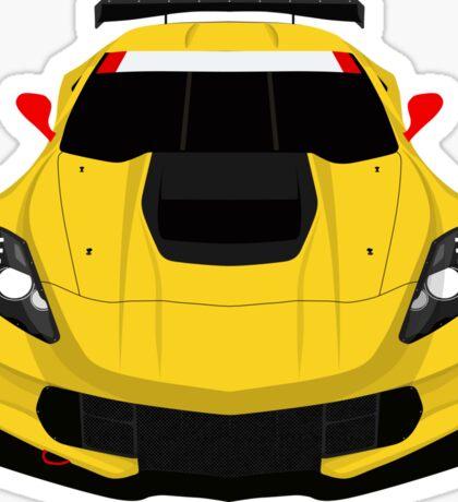 American Race car Sticker