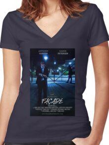 Façade Poster Women's Fitted V-Neck T-Shirt