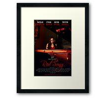 Red Song Poster Framed Print