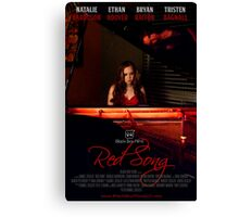 Red Song Poster Canvas Print