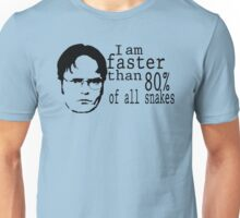 I Am Faster Than 80% Of All Snakes Unisex T-Shirt