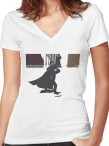 Darth Vader Women's Fitted V-Neck T-Shirt