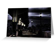 On a dark damp night............. Greeting Card