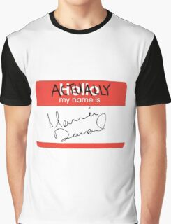 Actually, My Name's Marina Graphic T-Shirt