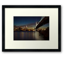 Rutger's View of Philly Framed Print