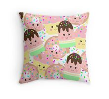 Foodie Faces Stack Throw Pillow