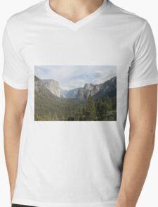 Yosemite Valley Mens V-Neck T-Shirt