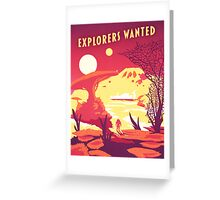 Explorers Wanted Mass Effect Greeting Card