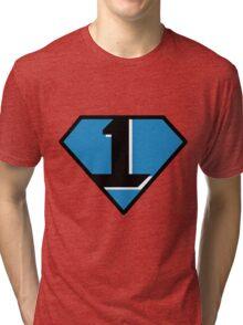 Cam Newton - #1 (Superman) Tri-blend T-Shirt