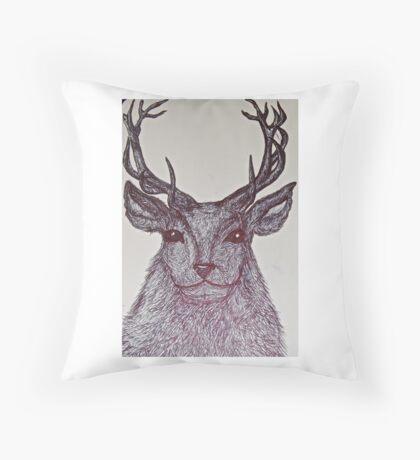 Wise Reindeer Throw Pillow