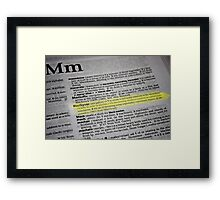 the verb is to macgyver Framed Print