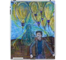 Nikola Tesla Freeing the light bulb balloons iPad Case/Skin