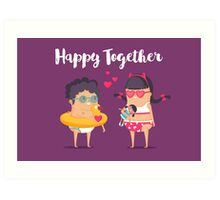 Happy Together Art Print