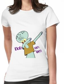 Dabbing Squidward Womens Fitted T-Shirt