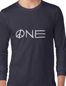 ONE peace sign Long Sleeve T-Shirt