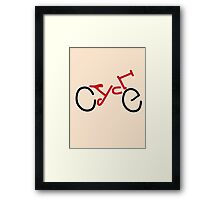 Cycle Framed Print