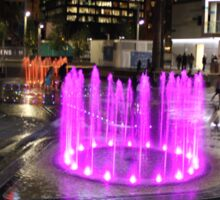 Elizabeth Quay, Perth Western Australia, Pink Fountain Sticker