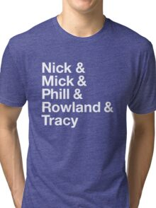 "The Birthday Party t-shirt in the ""helvetica meme"" Tri-blend T-Shirt"