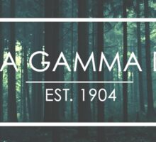 Alpha Gamma Delta trees Sticker