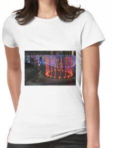 Elizabeth Quay, Perth Western Australia, Orange Fountain Womens Fitted T-Shirt