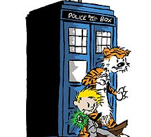 calvin and hobbes police box in action by HollyKim