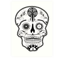 Cogs and Chains skull Art Print