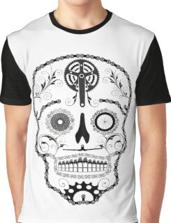 Cogs and Chains skull Graphic T-Shirt