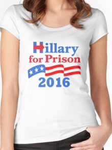 Hillary For Prison Women's Fitted Scoop T-Shirt