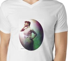 Staring into the Moon Mens V-Neck T-Shirt