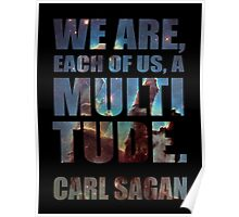 Each Of Us A Multitude [Black Print] Poster