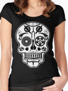 Symmetry skull Women's Fitted Scoop T-Shirt