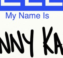 Hello My Name is Johnny Karate Sticker